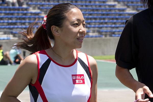 高田千明選手の練習風景