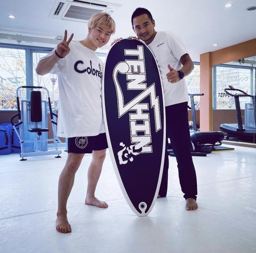 那須川天心選手にSurftrainerを初導入頂きました